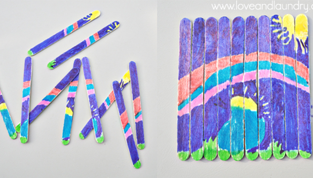 Kid Craft: Popsicle Stick Puzzles