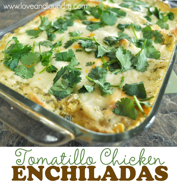 Tomatillo Chicken Enchiladas