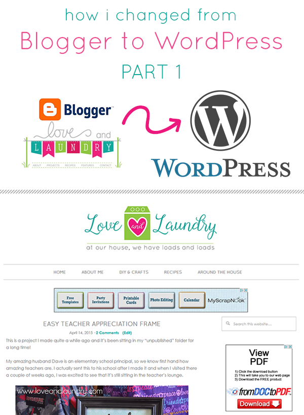 How I changed from Blogger to WordPress